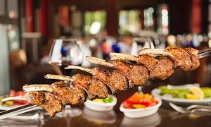 Texas De Brazil - Salt Lake City: $62 for a Brazilian Steakhouse Dinner for Two at Texas de Brazil ($85.98 Value)