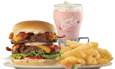 $6 for $12 Worth of Burgers, Melts, and Shakes at Johnny Rockets
