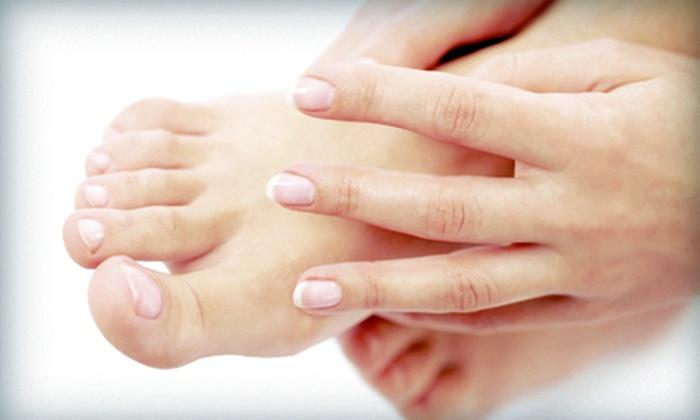 Voir Salon & Spa - University Place: Shellac CND Manicure, Voir Mani-Pedi, or Shellac CND Manicure and Voir Pedicure at Voir Salon & Spa (Up to 53% Off)