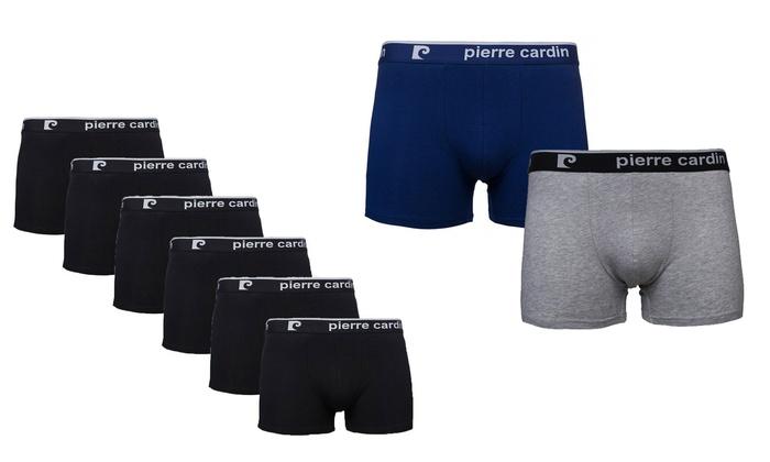Groupon Goods Global GmbH: 6er-Pack Pierre Cardin Herren-Boxershorts in Grau, Blau oder Schwarz (78% sparen*)