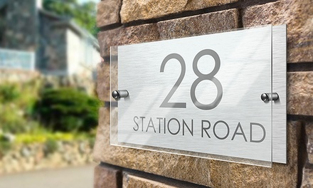 Personalised House Sign: Standard ($19) or Premium with Acrylic Front ($25) (Don't Pay up to $49.99)