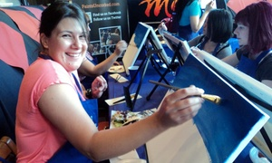 Paints Uncorked: Admission for One or Two to a Three-Hour Social Painting Event from Paints Uncorked (Up to 51% Off)