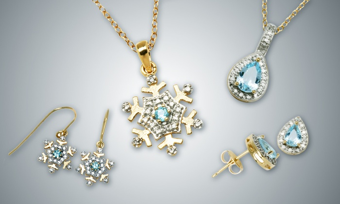 Blue Topaz Jewelry: Blue Topaz Jewelry (Up to 81% Off). Three Options Available. Free Shipping and Free Returns.
