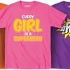 Kidteez Girls' Superhero T-Shirts
