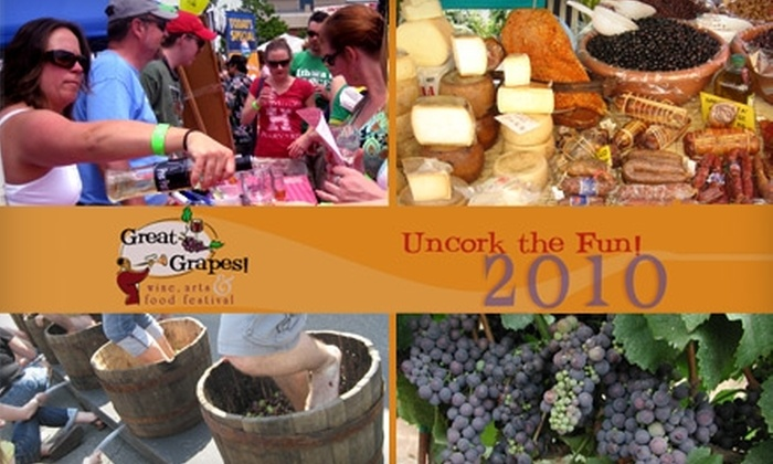 coupons for great grapes wine festival