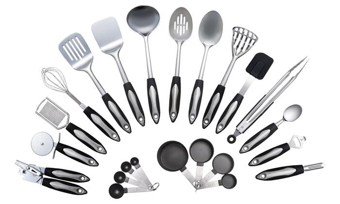Culinary Edge Stainless Steel Kitchen Utensil Set 23 Piece