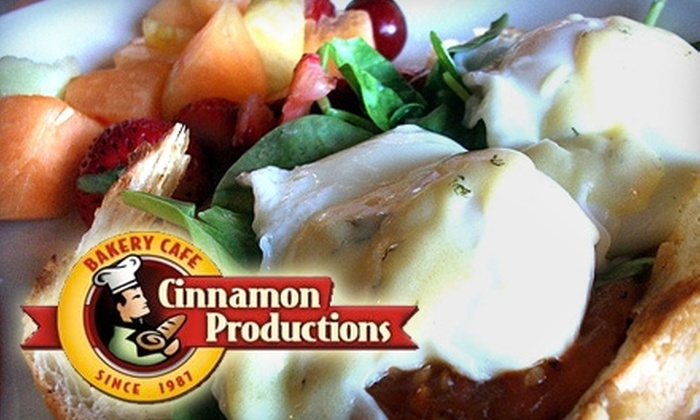 Cinnamon Productions - Multiple Locations: $7 for $15 Worth of Baked Goods, Sandwiches, and More at Cinnamon Productions Bakery Café