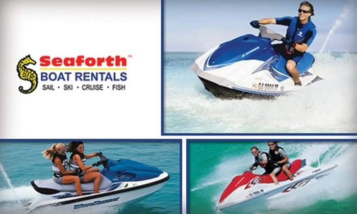 Seaforth Boat Rentals - Multiple Locations: $99 for a Two-Hour Jet-Ski Rental from Seaforth Boat Rentals (Up to $206 Value)