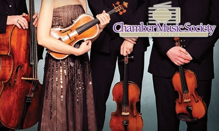 Chamber Music Society of Detroit - Franklin: Tickets to the Chamber Music Society of Detroit. Choose from Two Concerts and Two Seating Options.