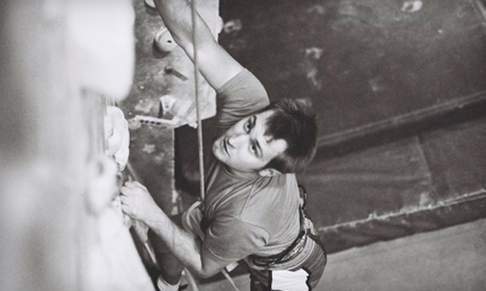 North Wall Rock Climbing - Chicago: Rock-Climbing Class for Two or 2, 5, or 10 Climbing Pass with Rental Gear at North Wall Rock Climbing in Crystal Lake