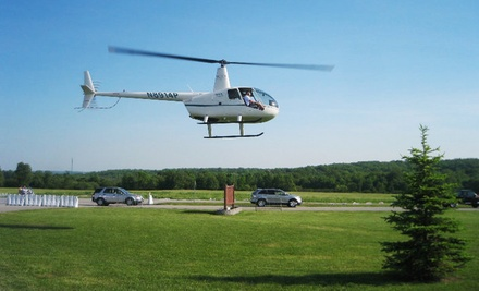 $570 for One Hour of Flight Time in a Helicopter from H&L Enterprises of WNY LLC ($840 Value)