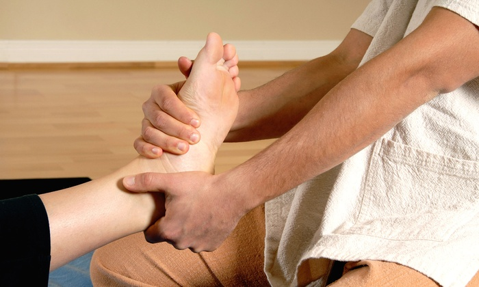 Relax the Feet - Multiple Locations: 60-Minute Body Rub with Oil or Foot-Reflexology Session at Relax the Feet (Up to 63% Off)