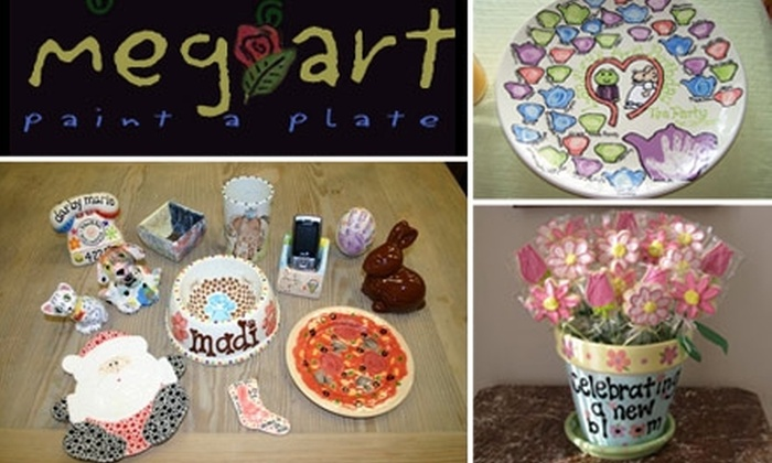 Meg-Art  - Huntersville: $20 for $50 Worth of Paint-It-Yourself Pottery at Meg-Art