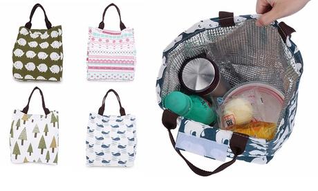 1 à 4 sacs à déjeuner isothermes avec motifs thème nature