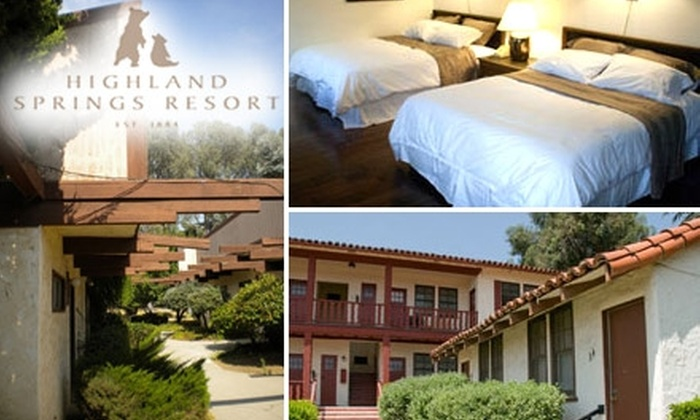 Highland Springs Resort - San Gorgonio Pass: $89 for a One-Night Stay in Deluxe Inn Room, Dinner for Two, and $30 Toward Sunday Brunch or Lunch for Two from Highland Springs Resort (Up to $175 Total Value)