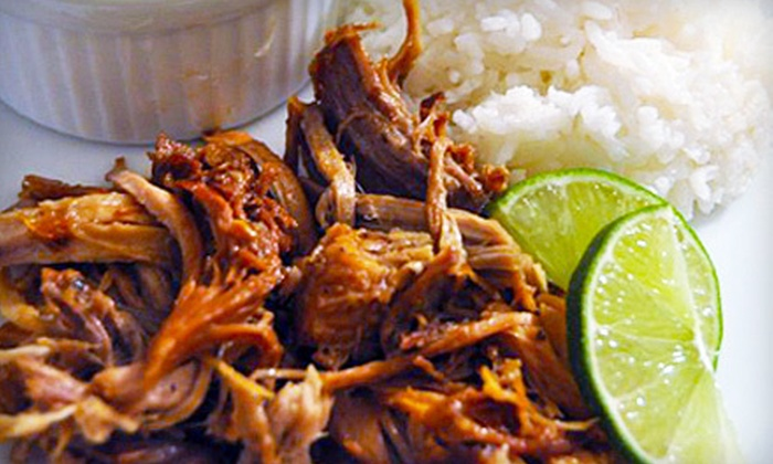 Adobo Puerto Rican Cafe - Woodside Villas: $8 for $16 Worth of Puerto Rican Fare at Adobo Puerto Rican Cafe in Irving
