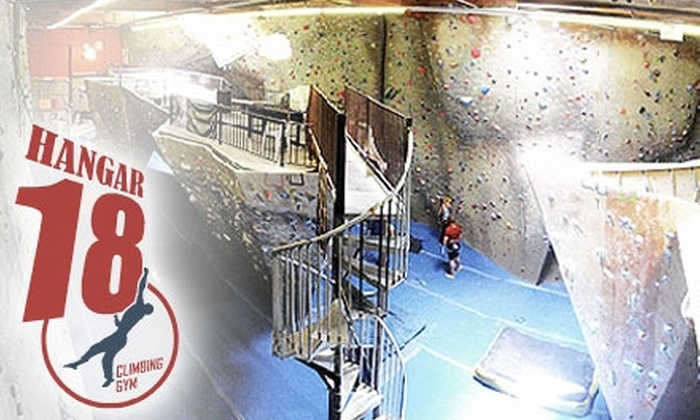 Hangar 18 - Multiple Locations: Up to 58% Off Rock Climbing at Hangar 18. Choose from Three Packages.