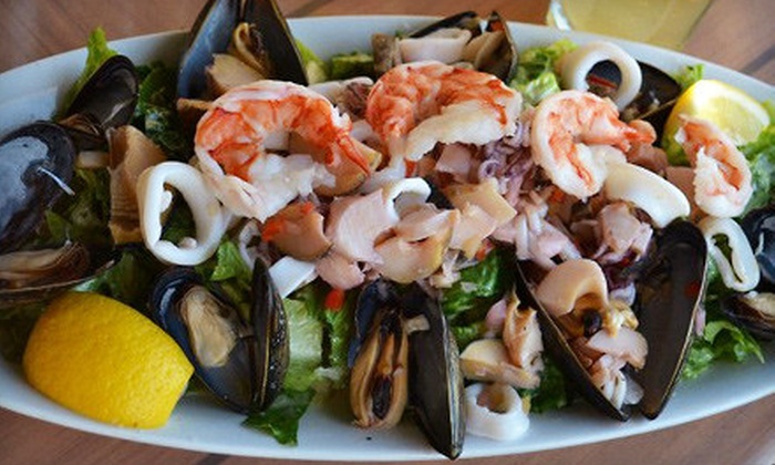 The Dockside - Sea Bright: Seafood Dinner with Appetizer for Two or Four at The Dockside in Sea Bright (Up to 56% Off)