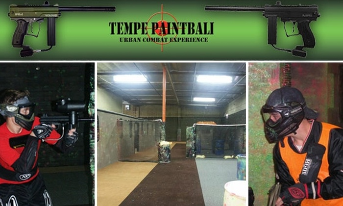 Tempe Paintball - Tempe: $20 for Entry, Equipment, Air, and 300 Rounds at Tempe Paintball