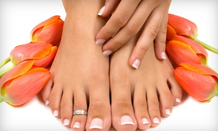 Hairbenders - Webb City: $25 for a Level-One Manicure and Pedicure at Hairbenders in Joplin (Up to $78 Value)