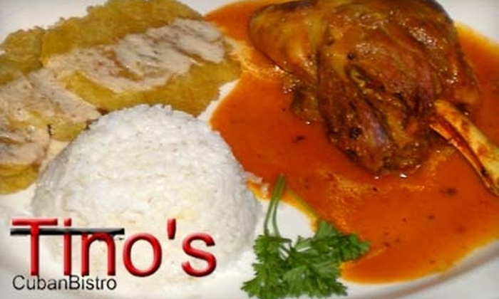 Tino's Cuban Bistro - Crocker Heights: $10 for $20 Worth of Cuban Fare and Drinks at Tino's Cuban Bistro