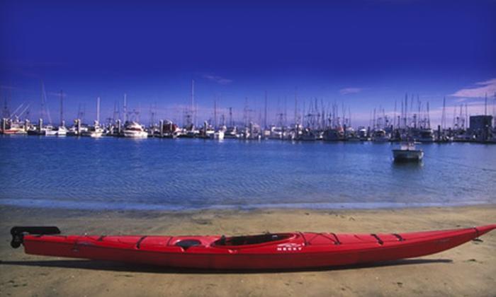Half Moon Bay Kayak Company - South Coastside: $20 for a One-Hour Paddleboard, Kayak, or Double-Kayak Outing for Two from Half Moon Bay Kayak Company ($40 Value)
