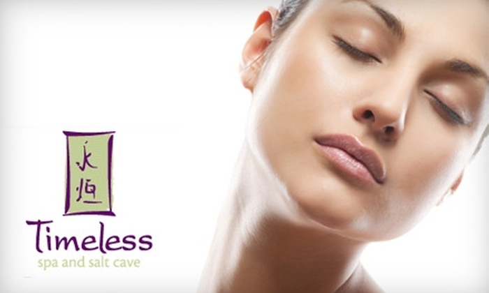 Timeless Spa and Salt Cave - Naperville: Salt-Cave Session or Infrared Sauna Session at Timeless Spa and Salt Cave in Naperville (Up to 56% Off)