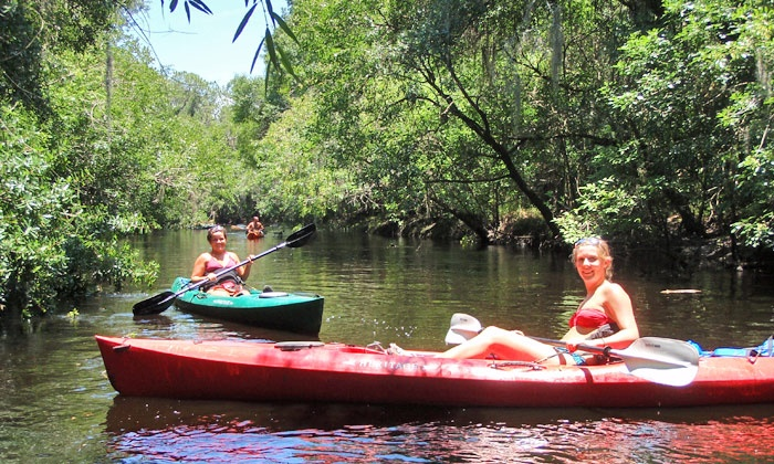 Canoe Outpost - Ruskin: Cabin Stay and a Kayak or Canoe Trip from Canoe Outpost (Up to 41% Off). Two Options Available.