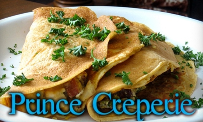 Prince Creperie - Albany Park: $10 for $20 Worth of Light French Fare and Drinks at Prince Creperie
