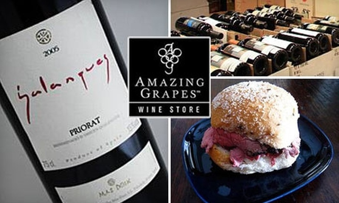 Amazing Grapes Wine Store - Rancho Santa Margarita: $18 for $40 Worth of Wine and Small Plates at Amazing Grapes Wine Store
