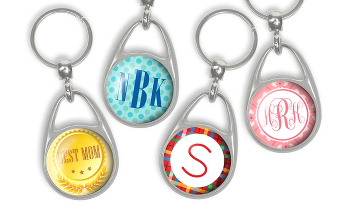 Personalized Stainless Steel Pressed Keychains from Monogram Online: Personalized Stainless Steel Pressed Keychains from Monogram Online (Up to 80% Off)