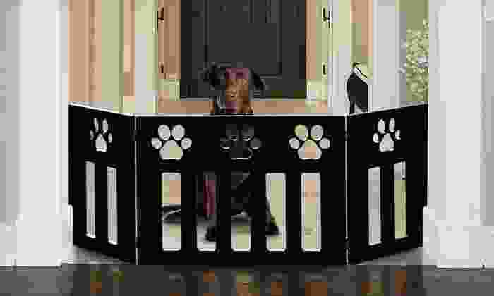 Adjustable Wooden Pet Gates: $26 for an Adjustable Black-Paw or Dog-Bone Wooden Pet Gate (Up to $99.99 List Price). Free Shipping.