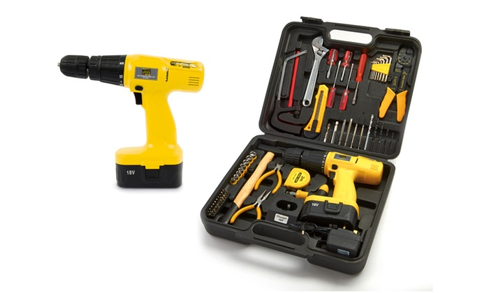 Groupon Goods Global GmbH: Hammer Drill Set for £34.99 With Free Delivery (61% Off)