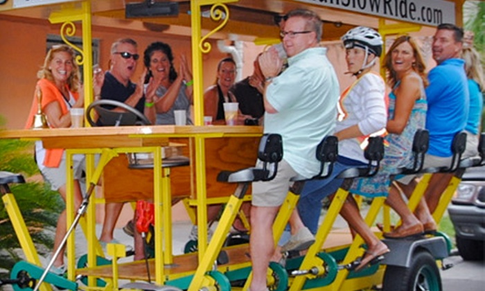 Tybee Island Slow Ride - Tybee Island: $29 for Four Seats on a 10-Seat Street Crawler Bike Tour from Tybee Island Slow Ride ($60 Value)