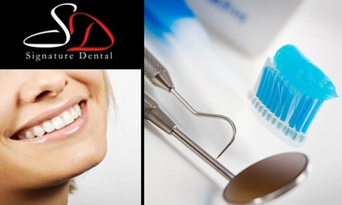 Signature Dental - Oklahoma City: $49 for an Exam, X-rays, Cleaning, and Custom-Fit Whitening Kit at Signature Dental (Up to $703 Value)