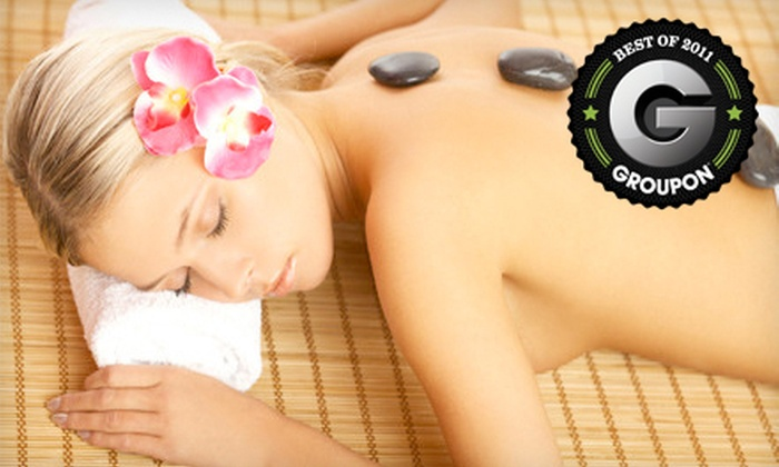 Pink Lime Salon & Spa - Downtown Vancouver: $49 for a 60-Minute Hot-Stone Massage at Pink Lime Salon & Spa ($110 Value)