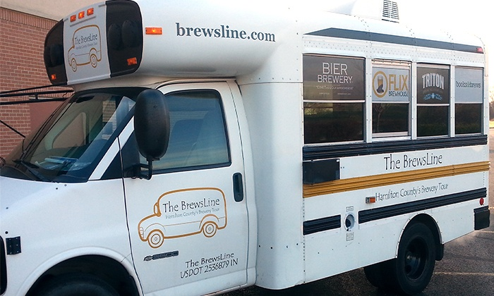 The Brewsline - Indianapolis: Brewery Bus Tour for One or Two from The BrewsLine (Up to 50% Off)