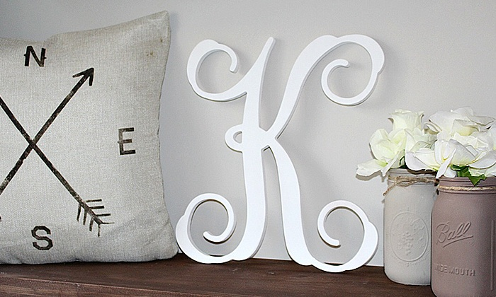 "Whimsy Timber: 15"" or 19"" Unfinished or Finished Custom Vine Letter from Whimsy Timber (Up to 50% Off)"