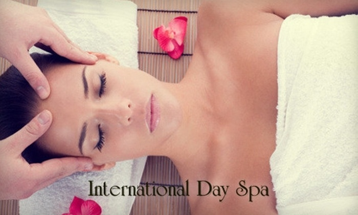 International Day Spa - South Redlands: $75 for a Massage à Trois Couple's Massage ($150 Value) or $30 for $60 Worth of Spa Services at International Day Spa