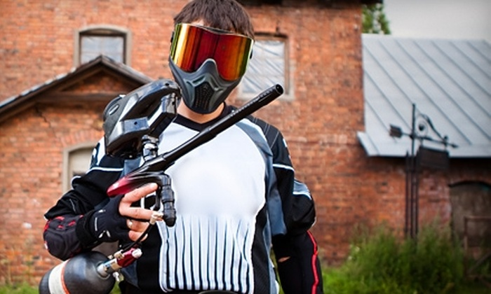 Futureball Paintball Parks and Pro-Shops - Green Oak: $25 for Four-Hour Play Session, Including Equipment Rental and Paintballs, at Futureball Paintball Parks and Pro-Shops in Whitmore Lake ($50 Value)