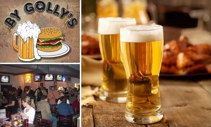 By Golly's Bar & Grill - Milford: $10 for $20 Worth of Food and Drinks at By Golly's Bar & Grill