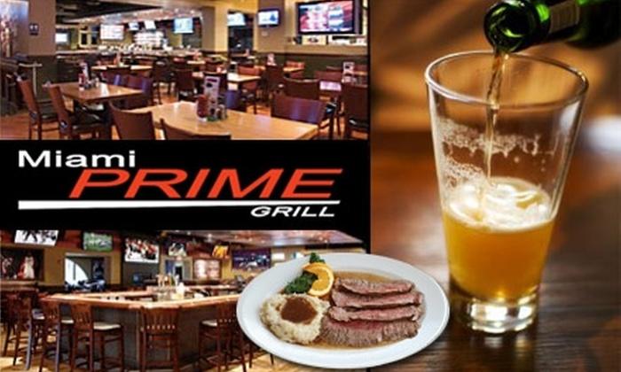 Miami Prime Grill - Miami: $15 for $35 Worth of All-American Fare and Drinks at Miami Prime Grill
