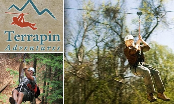 Terrapin Adventures - Savage - Guilford: $7 for a Zip-Line Ride at Terrapin Adventures ($15 Value)