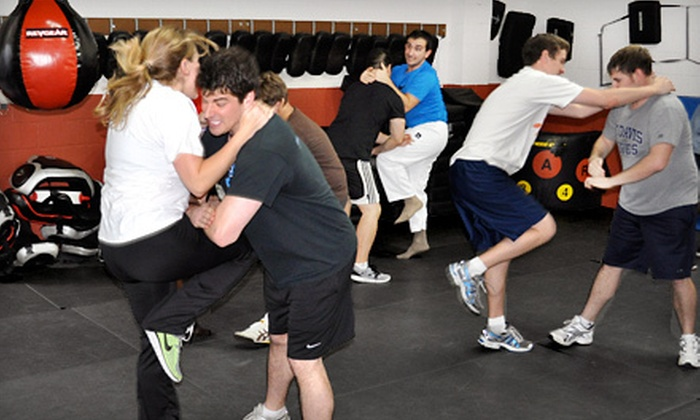 Krav Maga at KMLI - Syosset: 5 or 10 Krav Maga Classes or a Three-Hour Women's Self-Defense Workshop at KravMaga at KMLI in Syosset (Up to 76% Off)