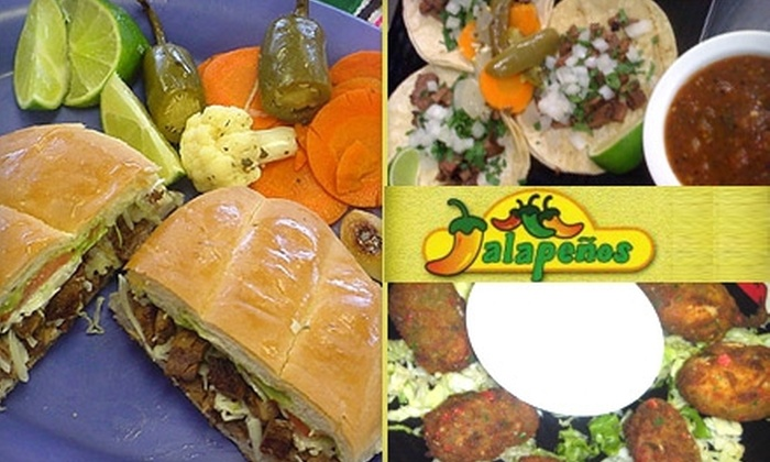Jalapenos  - Keller: $10 for $20 Worth of Authentic Mexican Cuisine at Jalapenos in Keller