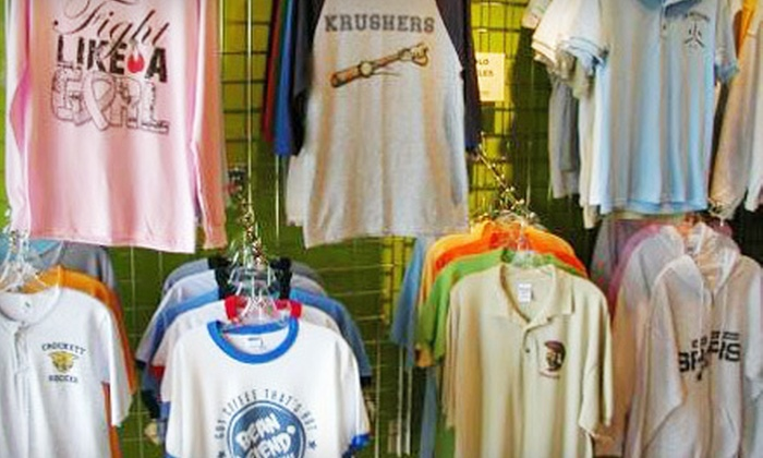 Big Frog Custom T-Shirts & More South Austin - Sunset Valley Marketfair: $20 for Custom-Printed Apparel & Accessories