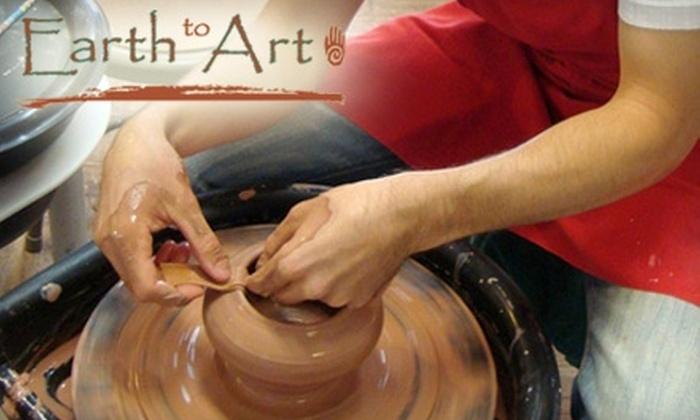 Earth to Art - South Hills: $40 for a Two-Hour Couple's Pottery Experience at Earth to Art ($85 Value)
