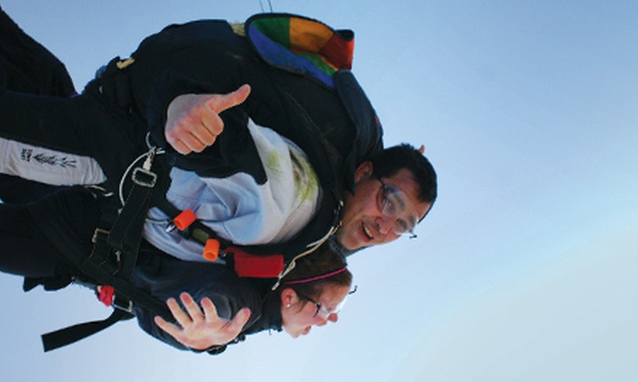 Illinois Skydiving Center - Rantoul: Solo Lesson and Jump for One or Two or Tandem Jump for One from Illinois Skydiving Center in Flatville (Up to 41% Off)