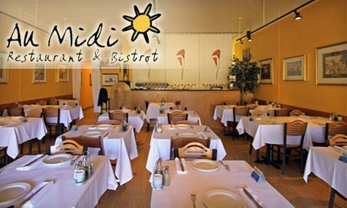 Au Midi Restaurant & Bistrot - Santa Cruz: $20 for $40 Worth of French Cuisine and Drinks at Au Midi Restaurant & Bistrot in Aptos