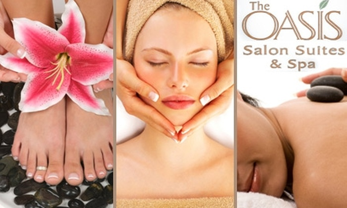 The Oasis Salon Suites and Spa - Far North Central: $49 for Spa and Salon Services at The Oasis Salon Suites and Spa (Up to $126 Value). Choose from Four Options.